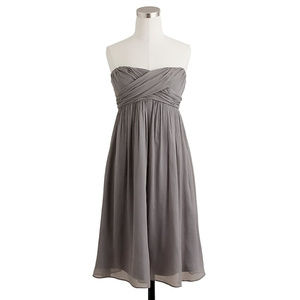 J. Crew Taryn Dress - Silk Chiffon Strapless